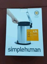 Simple Human waste bin toilet bathroom NEW IN BOX