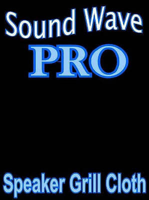 "PRO Sound Wave Speaker Grille CLOTH Stereo Fabric - BLACK - 64""x36"""