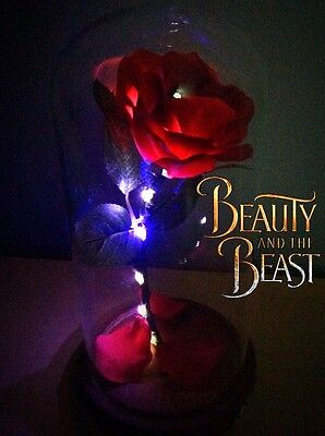 Beauty and the Beast Enchanted Rose handmade Replica