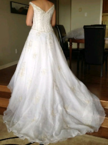 Beaded Wedding Dress with Veil