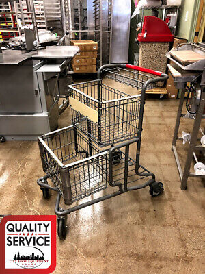 Used Commercial Shopping Cart Red Handle
