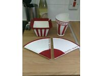 American Dinner Style - Pizza Slice Plates, Fries Holder and Popcorn Holder