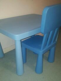 Childrens table & Chair from ikea