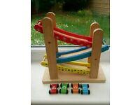 Wooden car ramp toy