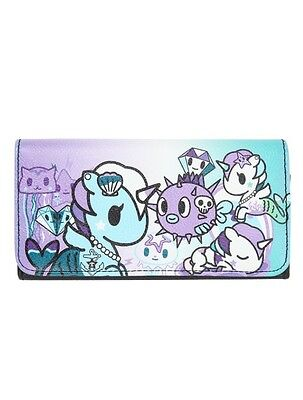 Tokidoki Mermicorno Pebbled Faux Leather Trifold Flap Wallet New With Tags!