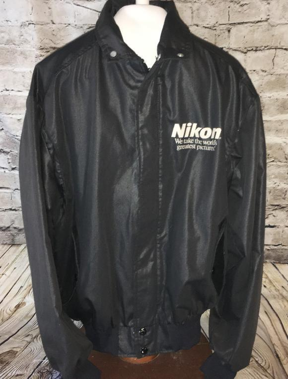 NIKON JACKET WINDBREAKER  COAT  PHOTOGRAPHER CAMERA  KING LOUIE  VTG USA LARGE