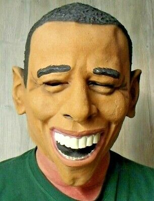 Obama Mask Halloween (HALLOWEEN ADULT PRESIDENT OBAMA MASK PROP)