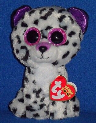 """TY BEANIE BOOS - VIOLET the 6"""" LEOPARD - CLAIRE"""