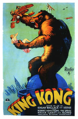 King Kong Fay Wray 1933 cult movie poster print #A14