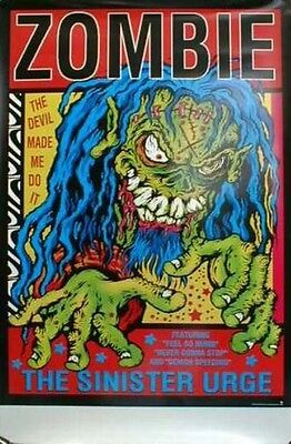 ROB ZOMBIE 2002 BIG sinister urge promotional poster New Old Stock Flawless