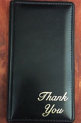 Waitress Pad Check Presentation Book Credit Card Holder Padded Thank You New