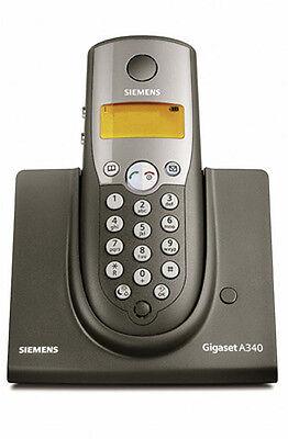 Siemens Gigaset A340 / A 340 analog schnurlos Telefon A34 / A 34 graphit