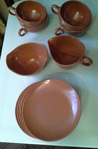 Vintage Melamine Set - Brown Kingston Kingston Area image 1