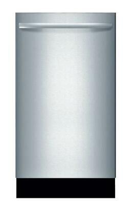 "Bosch 800 Series 18"" 44 dBA 10 Place Settings Integrated Dishwasher SPX68U55UC"