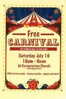 FREE Kids' Carnival July 16- Port Coquitlam