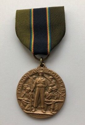 The American Legion, For God and Country,  Semper Fidelis Medal ,  Vintage M104