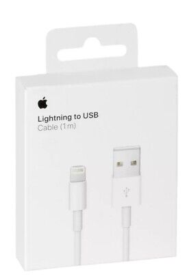 ORIGINAL GENUINE APPLE 1M IPHONE 5 6 7 8 X, IPAD LIGHTNING USB CHARGER CABLE