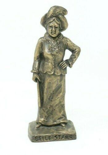 """Belle Starr 1981 Tom Knapp Bronze 4.5"""" Figure Statue"""