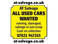 Scrap a car £100+ for damaged runner used unwanted scrap a car or van scrap used cars Hertfordshire
