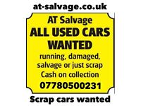 Scrap my car - All cars wanted -at-Salvage - scrap cars wanted