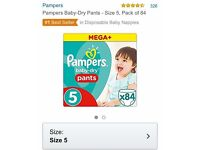 82 x size 5 Pampers Pull Ups