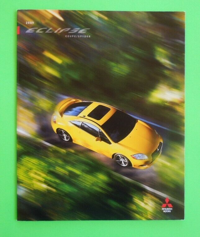 2009 Mitsubishi Eclipse Coupe Spyder GT Spyder GS Sales Brochure - Mint!