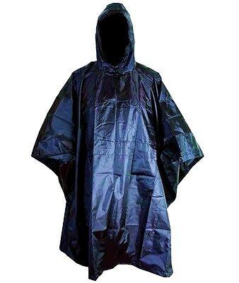 RIP-STOP WATERPROOF WINDPROOF PONCHO/BASHA navy blue military hooded coat jacket