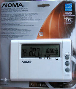 Noma Programmable Thermostat NEW IN BOX, never used.