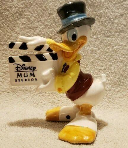 "Vintage Disney Donald Duck 4.5"" Ceramic Figurine w MGM Movie Clapboard Japan"