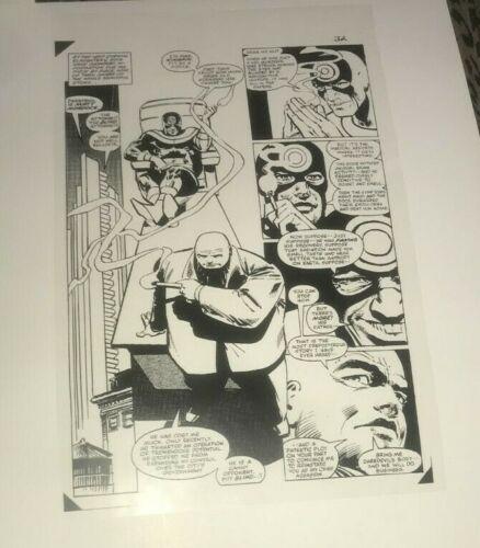 Daredevil Kingpin Bullseye Blanc Noir Gothic Scene Production Art Acetate rare