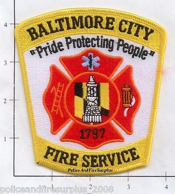 Maryland - Baltimore City MD Fire Service Fire Dept Patch
