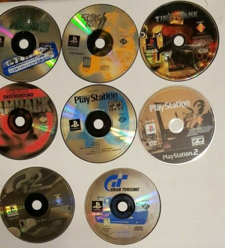 Huge PlayStation 1 & 2 Game lot Disc only 40+ games some rare