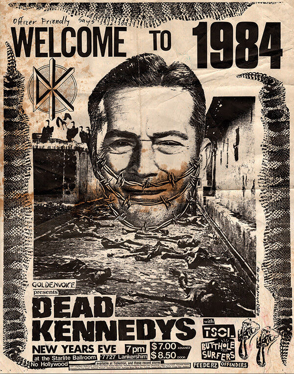 DEAD KENNEDYS 1984 Show Punk Vintage Poster Print Canvas Giclee Annex Art TSOL