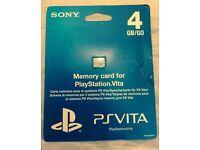 Sony Play Station Vita memory card new