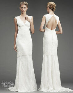 Nicole Miller Beaded Lace Wedding Gown