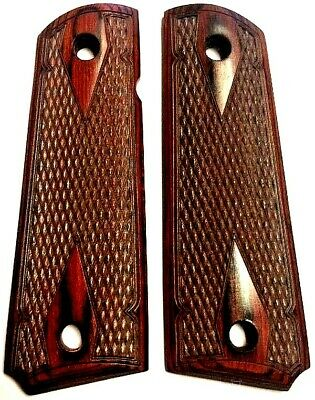 1911 fits COLT & Clones Grips ROSEWOOD DOUBLE DIAMOND GRIPS Classic BEST