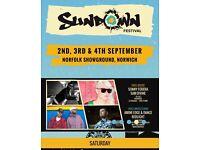 2 x weekend Sundown tickets