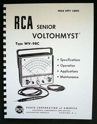 Rca Senior Voltohmyst Wv-98c Manual Wv98c