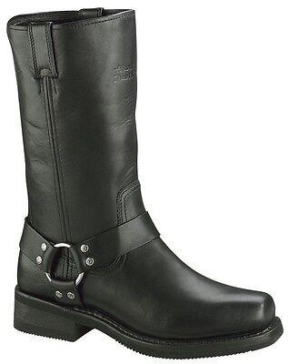 (Harley-Davidson® Men's Hustin Harness Black Leather Motorcycle Boots D95354)