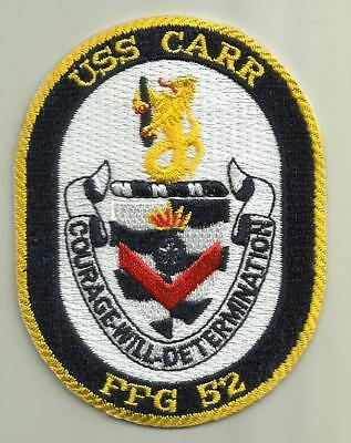 USS CARR FFG-52 U.S.NAVY PATCH FRIGATE WARSHIP SAILOR SOLDIER MISSILES USA BOAT