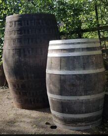 Big solid oak barrels
