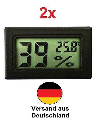 2 x LCD Digital Mini Thermometer Hygrometer Temperatur Feuchtigkeit Indoor Neu