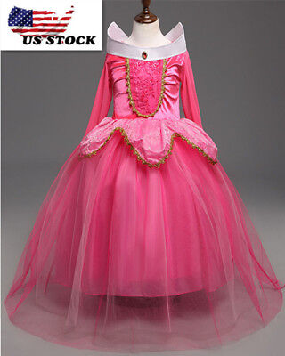 Sleeping Beauty Princess Aurora Party Dress Girls  Costume Dress  K89](Sleeping Beauty Princess Aurora)