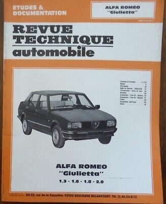 Comme neuf ! Revue technique ALFA ROMEO GIULIETTA 1.3 1.6 1.8 2.0 RTA CIP 3301