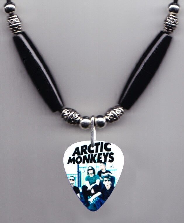 Arctic Monkeys Band Photo Guitar Pick Necklace