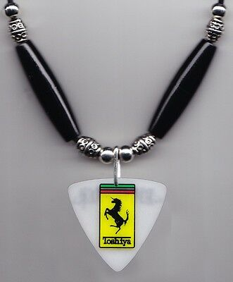 Dir en grey Toshiya Bass Guitar Pick Necklace Black Beads