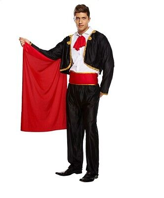 Adult Man MATADOR Bull Fighter Spanish Fancy Dress Party Stag Costume Outfit