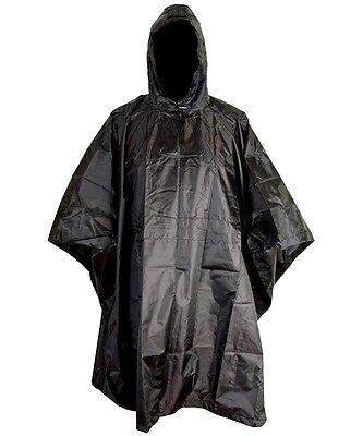 RIP-STOP WATERPROOF WINDPROOF PONCHO/BASHA black SAS military hooded coat jacket