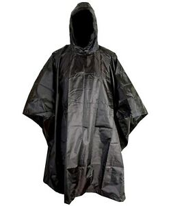 WATERPROOF-PONCHO-BASHA-RIP-STOP-SAS-BLACK-HEAVY-DUTY