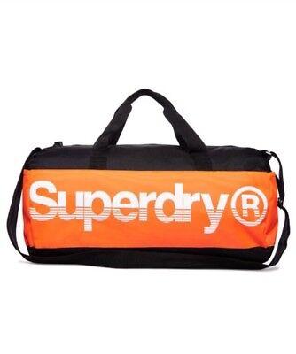 Superdry Montana Barrel Bag - Black/Orange/White BNWT